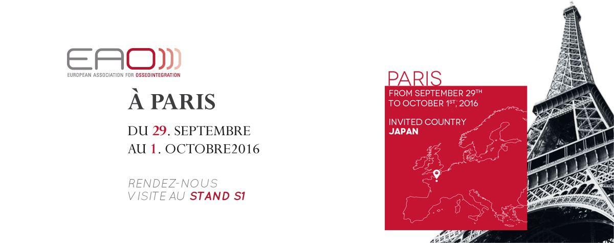El Dr. Pablo Altuna asistió a la 25º edición de la Asociación Europea de Osteointegración (EAO) en París.