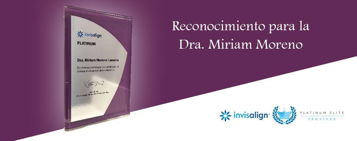 Reconocimiento para la Dra. Miriam Moreno