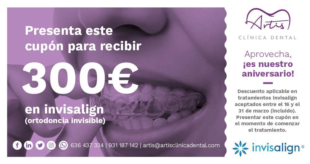 Cupon 300 euros descuento en invisalign